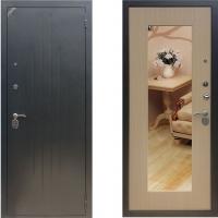 входная дверь зетта комфорт 2б1 беленый венге с зеркалом