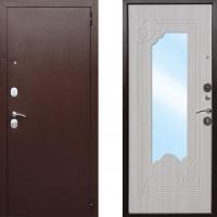 Входная металлическая дверь атлант ампир беленый дуб