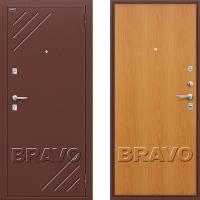 металлическая дверь браво оптим стандарт миланский орех