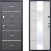 Входная металлическая дверь атлант молдинг белый ясень
