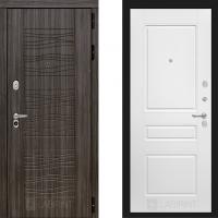 Входная дверь в квартиру лабиринт сканди белая эмаль