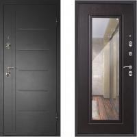Металлическая дверь Дверной Континент Сити с зеркалом венге