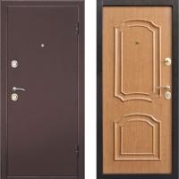 Металлическая дверь Дверной Континент Интерио Светлый Орех