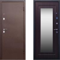 Входная дверь с зеркало венге