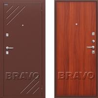 металлическая дверь браво оптим стандарт итальянский орех
