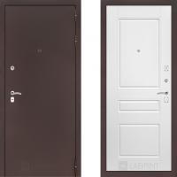 Входная дверь в квартиру лабиринт классик медь белая эмаль