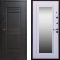 входная дверь с зеркалом беленый дуб