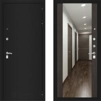 входная дверь в квартиру с зеркалом лабиринт классик венге
