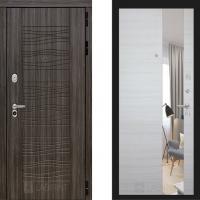 Входная металлическая дверь Лабиринт сканди с зеркалом акация светлая