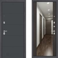 входная дверь в квартиру лабиринт арт графит с зеркалом макси венге