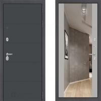 входная дверь в квартиру лабиринт арт графит с зеркалом макси софт грей