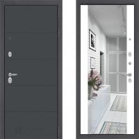 входная дверь в квартиру лабиринт арт графит с зеркалом макси белый софт