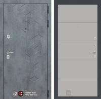 дверь лабиринт бетон 13 белый софт