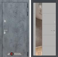 дверь лабиринт бетон с зеркалом белый софт