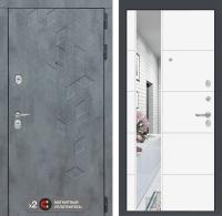 лабиринт бетон с зеркалом 19 белый софт