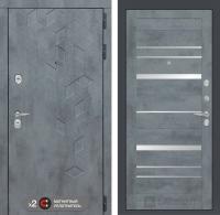 дверь лабиринт бетон 20 белый софт