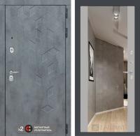 дверь лабиринт бетон с зеркалом грей софт
