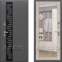 Входная металлическая дверь с терморазрывом для частного дома Bravo Termo 220 (Капучино)