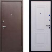 Входная металлическая дверь СТОП - модель Бастион (цвет Беленый Дуб)