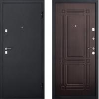 Входная металлическая дверь Атлант - модель Бастион (цвет Венге)