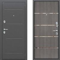 Входная металлическая дверь Bravo - модель Optimal Line (цвет серый) 3 контура