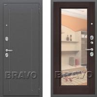 Входная дверь Bravo Optimal Flesh с зеркалом Венге 3 контура