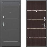 Входная металлическая дверь Bravo - модель Optimal Line (цвет Венге) 3 контура
