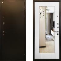 Входная металлическая дверь с белым зеркалом Ратибор Милан Белый Ясень