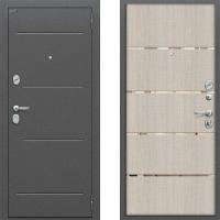 Входная металлическая дверь Bravo - модель Optimal Line (цвет капучино) 3 контура