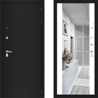 Входная металлическая дверь Labirint Classic с зеркалом макси Белый Софт