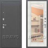 Входная дверь Bravo Optimal flesh с зеркалом Бьянка Вералинго 3 контура