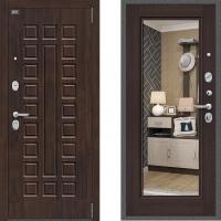 Входная металлическая дверь с зеркалом Bravo Optimal urban Венге 3 контура