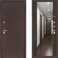 Входная металлическая дверь Labirint Classic медь с зеркалом макси Венге