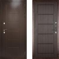 Входная металлическая уличная дверь с терморазрывом Дверной Континент Ультра Экстра (темный орех)