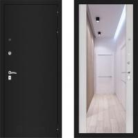 Входная металлическая дверь Labirint Classic с зеркалом макси Сандал Белый