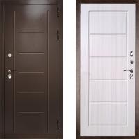Входная металлическая уличная дверь с терморазрывом Дверной Континент Ультра Экстра (лиственница беж)