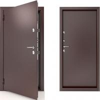 Входная металлическая тёплая дверь с терморазрывом Termo стандарт (цвет бронза)