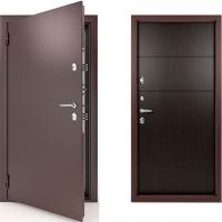 Входная металлическая непромерзаемая дверь с терморазрывом Termo TermoMax (цвет венге)