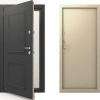 Входная металлическая непромерзающая дверь с терморазрывом Termo TermoDeca (цвет бежевый)